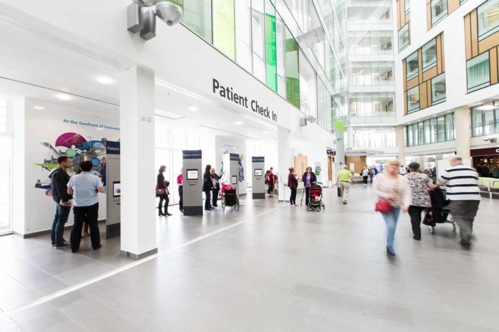 Southampton Hospital patient check in area