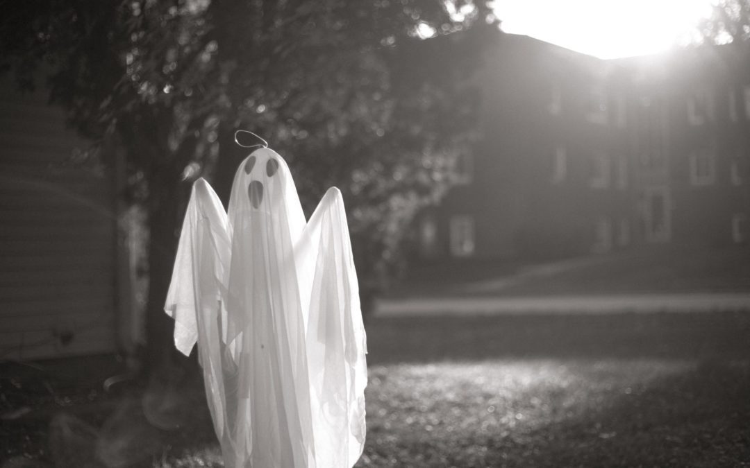 Black and White Picture of a Ghost