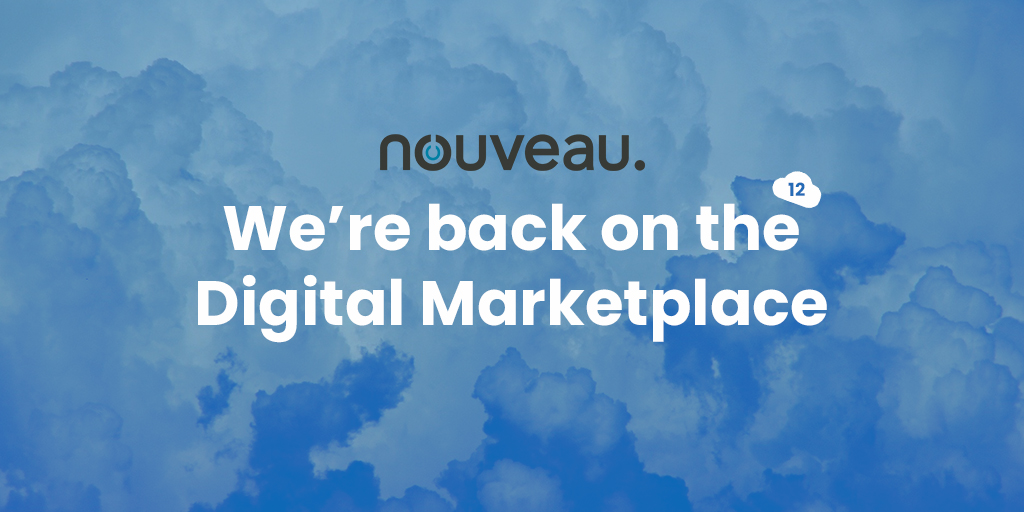 We're back on the Digital Marketplace, G-Cloud 12