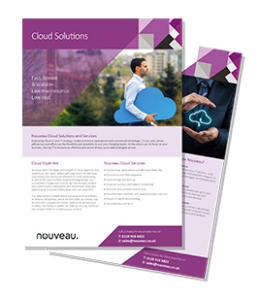 Managed IT Solutions Specialist Nouveau Solutions Cloud Solutions Brochure